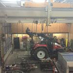 Service für den Traktorkran