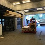 Holz laden für Brückensanierung Hoher Steg