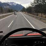 Unimog 1600 auf dem Weg in die Mercedes-Werkstatt Imst