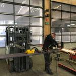 Geländerkonstruktion schweißen für Loipenbereich Hochwasserschutzbaustelle Omesberg