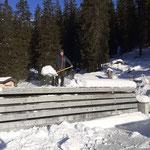 Bauhofdach weiter aufräumen
