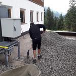 Umbauarbeiten Feuerwehrhaus, Rotes-Kreuz-Garagendach