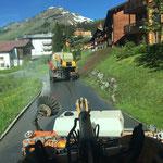 Straßenwascharbeiten in Oberlech, mit U400 und L509