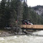 Steinlieferung für Verbau Brückensockel