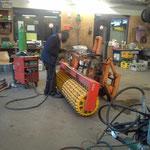 Konstruktionsarbeiten für Aufnahme Prismenwalze