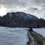 Schneeräumung für Wildbach, Staffel Stubenbach. Mit Holder C70 SC und Pflug