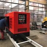Aufbau für mobile Schneekanonenstation -  Langlaufloipe konstruieren