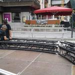 Bühnendach aufbauen ACCR Rüfiplatz