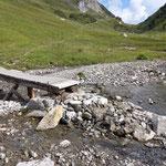 Brückenrampe Alpbach-Spullersee wieder aufbauen