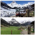 Schnee von gestern: Blick von Bernhard's Alpstall