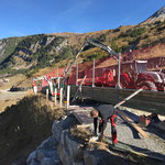 Geländerelemente setzen Wanderweg Zürs - Lech