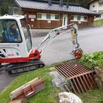 Tagwassergräben säubern Abfahrt Stubenbach