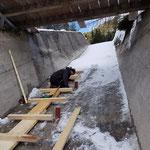 Winterunterbau Fuxlochtobelbrücke montieren
