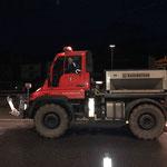 1. Einsatz Herbst 2016: U400 mit Splittstreuer