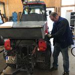 Fahrzeugschutzabdeckung für Holder-Muldenkipper konstruieren