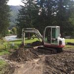 Waldbad Lech - Grabungsarbeiten