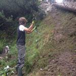 Umgehung Golfplatz: Weg-Umleitung Madloch - Zug Richtung Wasserfall