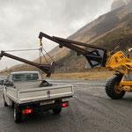 Arm Lader 509, Rücktransport zum Bauhof und Mülldienst Zürs