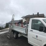 Netzabbau Tunnelausfahrt Reischl Oberlech