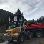 Material laden Deponie Stubenbach...