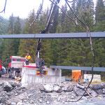 Neubau vordere Butzenbrücke, setzten der Doppel-T-Träger