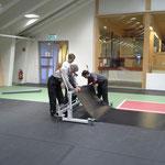 Sportpark-Rückbau nach Veranstaltung Arlberg Weinberg