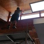 Sanierung Neue Mittelschule, Schellack-Streicharbeiten