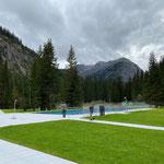 Waldbad Lech, Aquafitbecken einzäunen