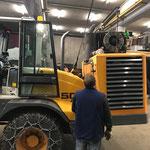 Fräse aufbauen Lader 509, für Fräsarbeiten Kriegerhorn, Drittleistung