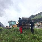 Zeltaufbau Arlberg Classic Car Rally