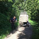 Wegsanierung Zuger Bergbahn - Golfplatz