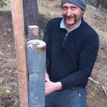 Stangen stellen Zugertal für Loipen und Wege