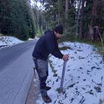 Zaun ablegen Parkbegrenzung Bruchhalde-Waldbad