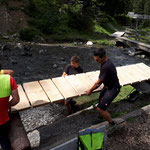 Steg beim Waldcamp wieder aufstellen
