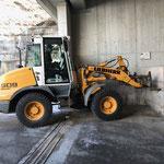 Müllsammelstelle am Bauhof umbauen auf Sommerbetrieb