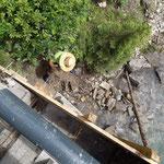 Nächste Etappe: Brückensanierung Bodenalpe, Schalung erstellen