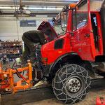Reparaturarbeiten Unimog 1600, Druckluftverlust eruieren