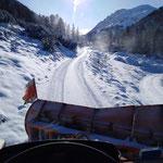 Schneeräumung Richtung Spullersee