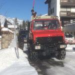 Schneestangen setzen mit U1600