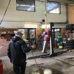 Hydrant enteisen in der Werkstatt