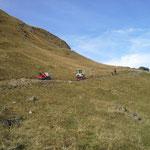 Fortschritt beim Wegebau Bürstegg-Wannenkopf in Zusammenarbeit mit unseren Kollegen vom Bauhof Warth