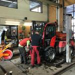 Holderfräse aufbauen in der Werkstatt