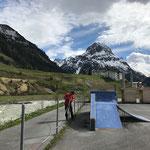Skateplatz Absperrung aufstellen
