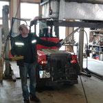 Arbeiten an der Hydraulik, Holdermulde