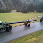 Wasserleitungstransport Hoher Steg - Bauhof mit U1600 und Nachlaufgerät
