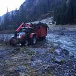Lawinenholz holen Birchet/Zug, mit Steyr 6190 CVT