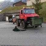 Hilfeleistung für Heizwerk Lech: Kabel einziehen