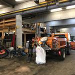 Lindner Unitrac für Rückgabe vorbereiten und reinigen