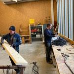 Verkabelung Weihnachtsbeleuchtung sortieren und Brückenaufbau WWW Schafalptobelbrücke vorbereiten