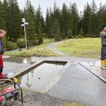 Weiderost Chalberläger, Reparaturarbeiten und Entwässerung vorbereiten
